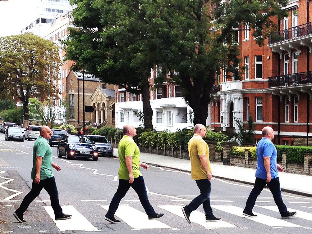 Lennart Jensen – walking the Abbey Road Zebra Crossing.